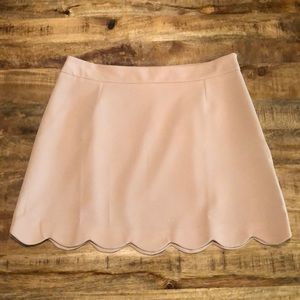 ASOS A-Line Mini Skirt with Scallop Hem, Size 10